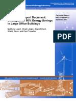 Strategies for 50% Energy Savings in Large Office Buildings