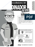 Manual de Procedimientos Del Coordinador de Sitio