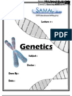 Genetics, Lecture 9 (Lecture Notes)