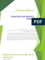 Thomas Malthus Ensayo Sobre El Principio