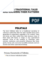 Reading Traditional Tales and Knowing Their Patterns