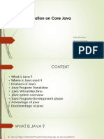 Presentation on Core java