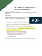Cum o Companie Poloneză de Consultanță în IT a Venit de Hac Marketing-ului B2B
