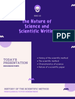 1 the Nature of Science and Scientific Writing