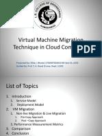 Virtual Machine Mirgation Technique