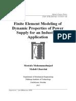 Finite Element Modeling of Dynamic Properties
