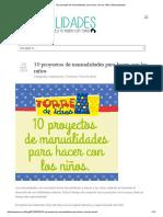 10 Proyectos de Manualidades Para Hacer Con Los Niños _ Manualidades