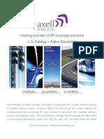 Axell Wireless Active Catalog