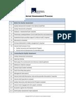 External assessment proces