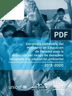 Estrategia Sostenible del Ministerio de Educación de Panamá para la Reducción de Riesgos de Desastres integrada a la Educación Ambiental