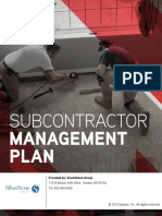 Subcontractor Management Plan