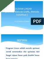 Distribusi Program Linear