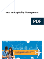 Mba in Hospitality Management