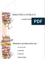 Biblioteca Publica o Noua Abordare