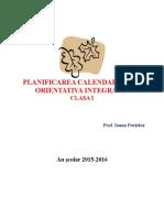 Planificarea Calendaristica Orientativa Integrata Clasa i
