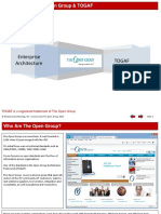 EA - Introduction to the Open Group and TOGAF
