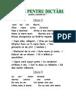cl.1-texte pentru dictari