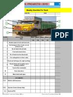 4. Weekly Checklist Truck vehicle-1.xlsx