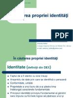 In Cautarea Propriei Identitati-proiect lectie.pps