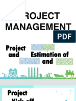 Project Scope Estimation of Time Cost