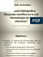 Búsqueda Bibliográfica Búsqueda Científica en La Red Metodología de Las Citaciones