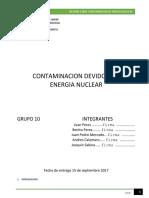 Informe de Contaminacion de Energia Nuclear en Desarrollo