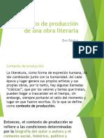 Contexto de Producción de Una Obra Literaria Ppt - Octavo
