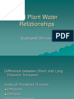 Soil Plant Water Relationships