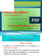 4.Certification of Incorporation