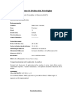 Informe de Evaluacion Del MMPI