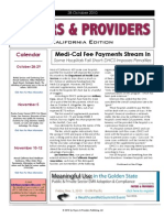 Payers & Providers – Issue of October 28, 2010