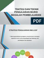 Strategi Dan Teknik Pengajaran Murid Masalah Pembelajaran