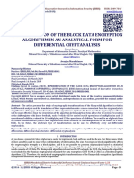 REPRESENTATION OF THE BLOCK DATA ENCRYPTION ALGORITHM IN AN ANALYTICAL FORM FOR DIFFERENTIAL CRYPTANALYSIS