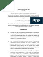 Resolucion 1 de 2009