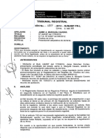 Tribunal Registral PRESCRIPCION