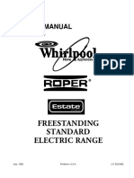 4321892 Whirlpool Roper Estate Freestanding Standard Electric Range
