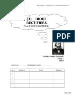 LAB 3- Diode Rectifier - Half Wave Rectifiers