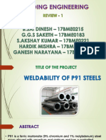 Weldability of P91 steels