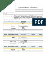 Modelo Itinerario Iso 9001 2015