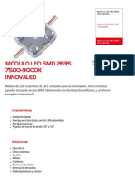 Modulo 4 Led Innovaled Smd 2835 7500-9000k