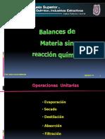 Balances de Materia y Energia Sin Reacción