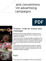 Codes and Conventions of Print Advertising Campaigns (1)