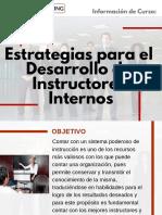 Curso Estrategias para el Desarrollo de Instructores Internos
