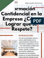 Curso de Información Confidencial en la Empresa ¿Cómo Lograr que se Respete?