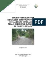 ESTUDIO HIDROLOGICO E HIDRAULICO PLACA HUELLA VEREDA SABANETA DEL MUNICIPIO DE MARIPI.docx