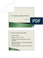 PSM Best Practices Workshop - Pre-Startup Safety Review Presentation