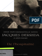 s) Jacques Derrida-De L'hospitalité -  Anne Dufourmantelle invite Jacques Derrida à répondre-Calmann-Lévy (2005).pdf