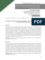 SUASNABAR, Claudio Educación superior y educación comparada