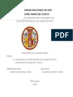 Intervencion de La Compañia de Jesus Cusco