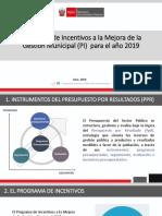 Taller Programa de Incentivos a la Mejora de la Gestión Municipal (PI) para el año 2019